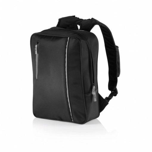 Rucsac Laptop 15.6 inch, de oras, cu 2 compartimente captusite, Everestus, CY, microfibra, poliester, negru