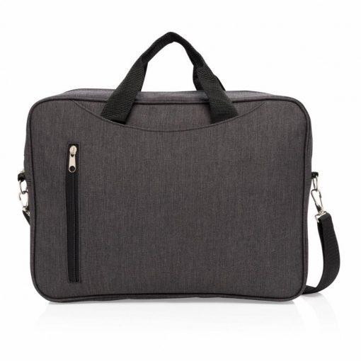 Geanta laptop 15 inch, Everestus, CC, poliester 600D, antracit, saculet de calatorie si eticheta bagaj incluse