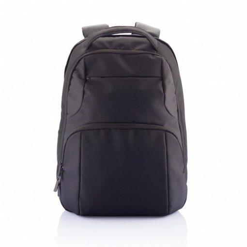 Rucsac Laptop universal cu 2 compartimente, Everestus, UL, poliester 1680D, negru, saculet si eticheta bagaj incluse