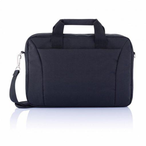 Geanta Laptop 15.4 inch, pvc free, Everestus, EN, poliester, negru, saculet de calatorie si eticheta bagaj incluse