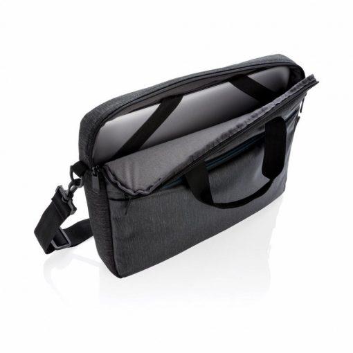Geanta Laptop 15 inch, 900D, pvc free, Everestus, BM, poliester, negru, saculet de calatorie si eticheta bagaj incluse