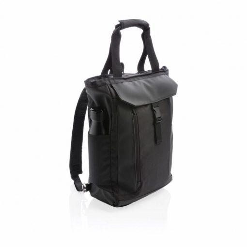 Geanta Laptop 15 inch, cu protectie RFID, pvc free, Swiss Peak by AleXer, RD, poliester, pu, negru, breloc inclus