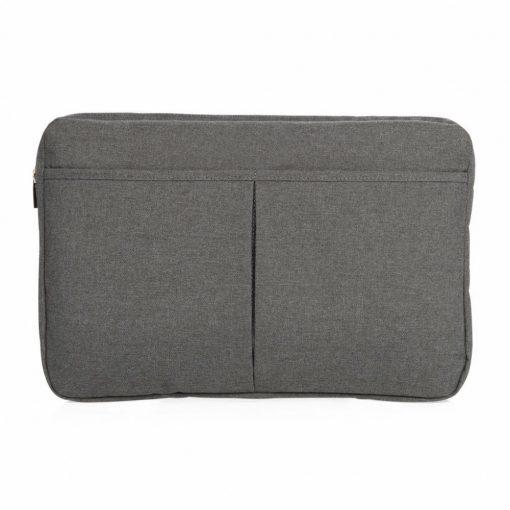 Geanta Laptop 15 inch, pvc free, Everestus, LP, poliester 600D, antracit, saculet de calatorie si eticheta bagaj incluse