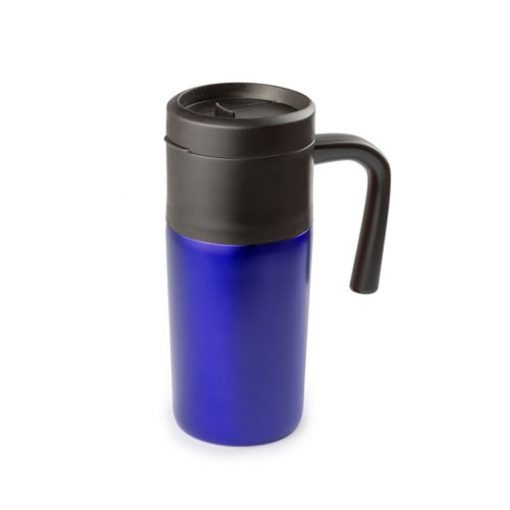 Cana termos, 400 ml, ø70×165 mm, Everestus, 20FEB15977, Otel inoxidabil, Albastru, saculet inclus